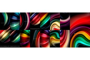Fluid color flow abstract background