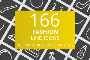 166 Fashion Line Inverted Icons