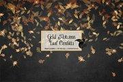 Gold Autumn Leaf Confetti