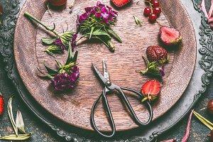 Seasonal still life with fruits