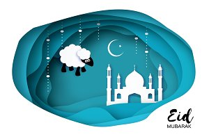Eid-Al-Adha Greeting card design