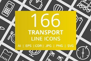 166 Transport Line Inverted Icons