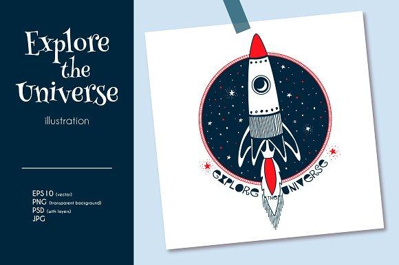 Rocket in Open Space