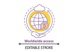 Worldwide access concept icon