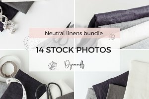 Linen + sewing stock photos