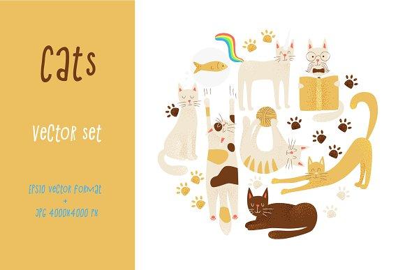 Cats vector concept