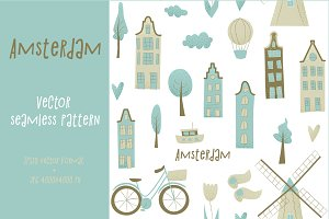 Amsterdam vector design