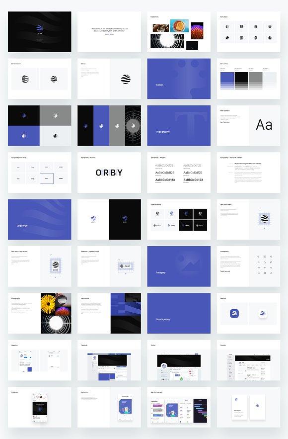 Branding presentation template
