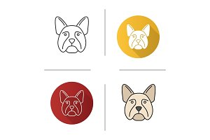French bulldog icon