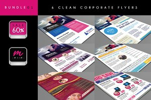 (Sale -60%) 6 Corporate Flyer Bundle
