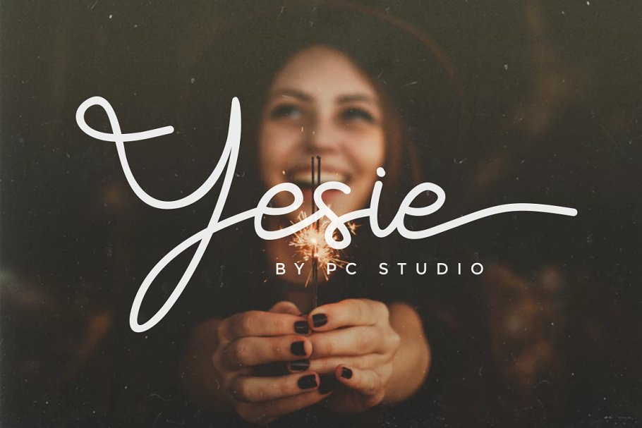 Yesie - Monoline Cursive Script Font