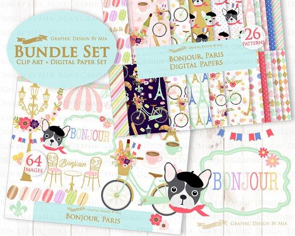 Parisian,Bonjour Paris,Eiffel Tower in Illustrations - product preview 1