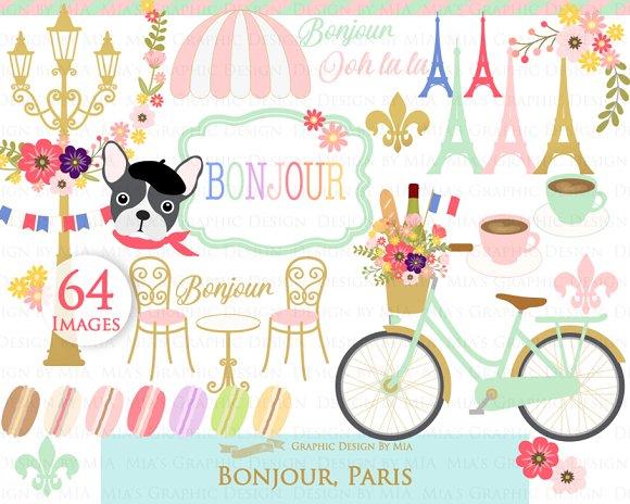Parisian,Bonjour Paris,Eiffel Tower in Illustrations - product preview 2