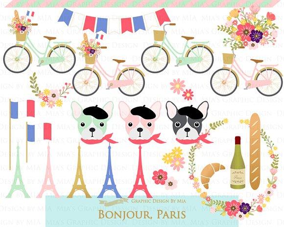 Parisian,Bonjour Paris,Eiffel Tower in Illustrations - product preview 3