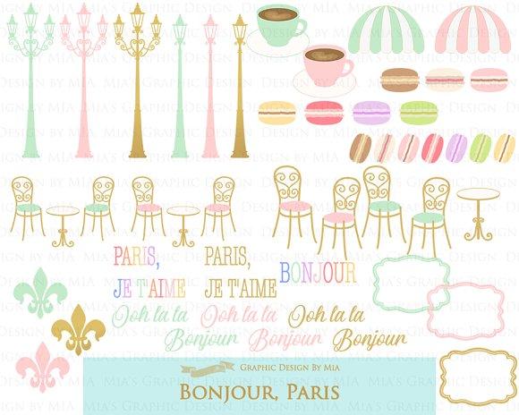 Parisian,Bonjour Paris,Eiffel Tower in Illustrations - product preview 4