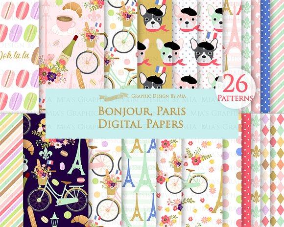 Parisian,Bonjour Paris,Eiffel Tower in Illustrations - product preview 5