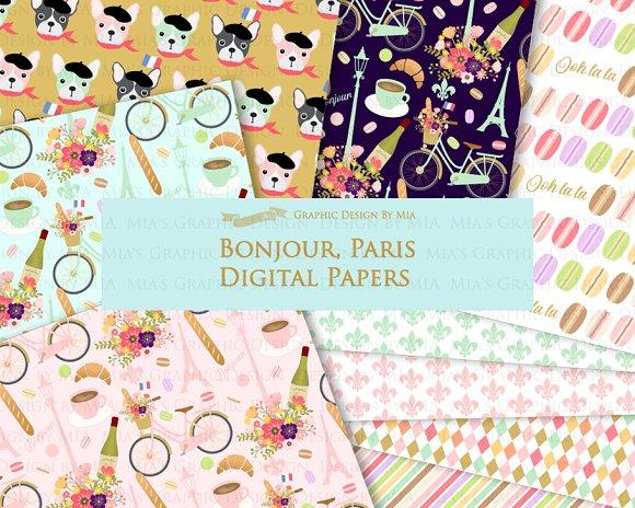 Parisian,Bonjour Paris,Eiffel Tower in Illustrations - product preview 6