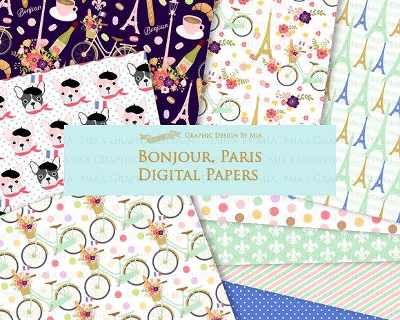 Parisian,Bonjour Paris,Eiffel Tower in Illustrations - product preview 7