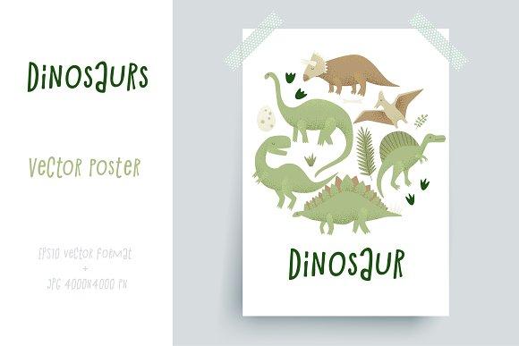 Dinosaurs vector design in Illustrations
