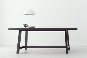 modern dining room & white backgroun