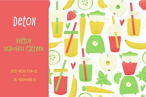 Smoothie seamless pattern