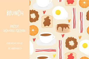 Brunch vector concept