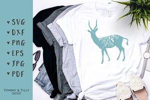Antelope Silhouette - SVG Clipart