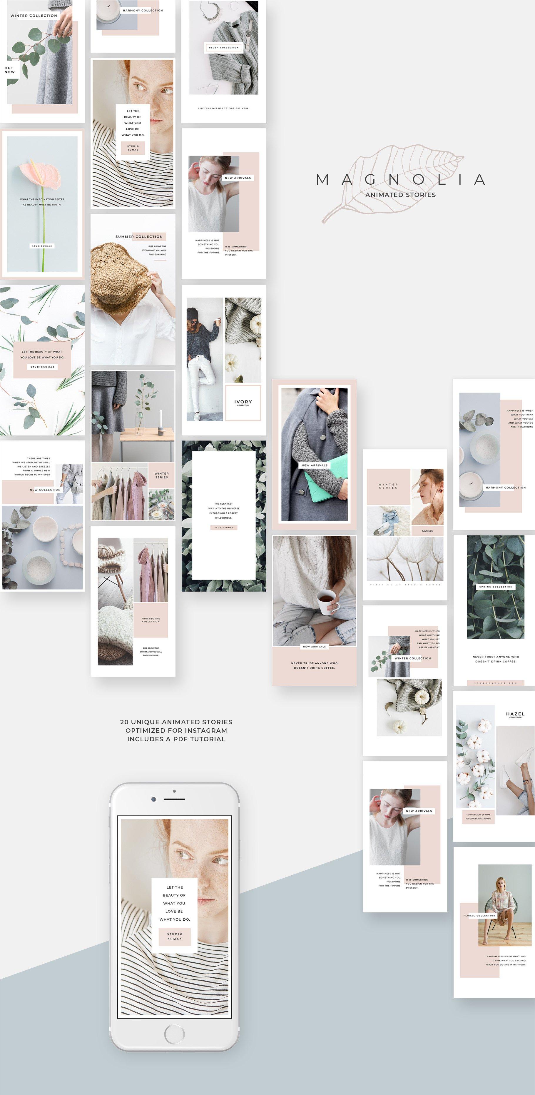 Magnolia Animated Instagram Stories ~ Instagram Templates ~ Creative Market