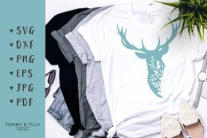 Deer Head - SVG Cut File & Clipart