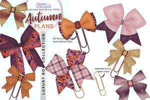 Autumn planner bow collection