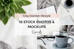 Cozy blanket lifestyle stock photos