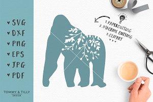 Gorilla Silhouette - SVG & Clipart