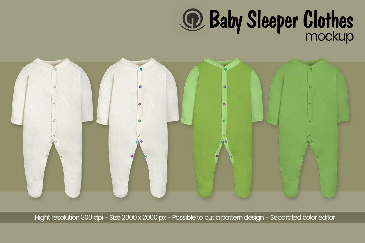 Baby Sleeper Mockup ~ Product Mockups ~ Creative Market 1c4d2b174