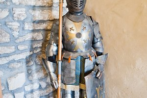 Knight's armour as a part of an exhe