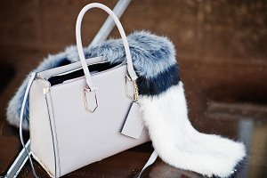 Close-up photo of a stylish bag with