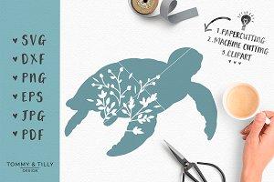 Turtle Silhouette - SVG & Clipart