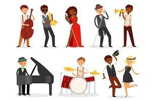 Jazz vector musician character