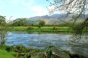 Countryside Landscape Stream Field