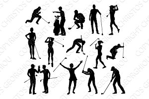 Golfer Golf Sports People Silhouette