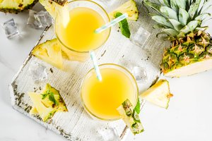 Pineapple juice or cocktail