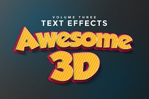 3D Text Effects Vol.3