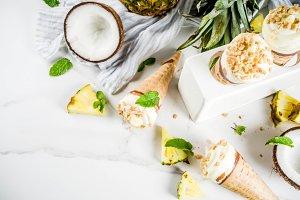 Tropical fruit ice cream