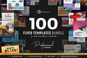 100+ Flyer Templates Bundle