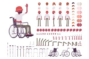 Male wheelchair user creation set