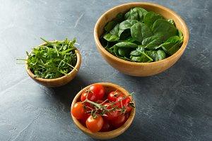 Healthy food concept. Ingredients