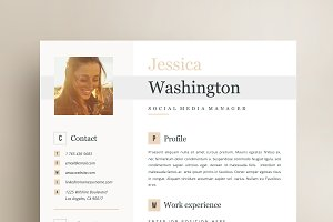 Resume Template 4 page | Jessica
