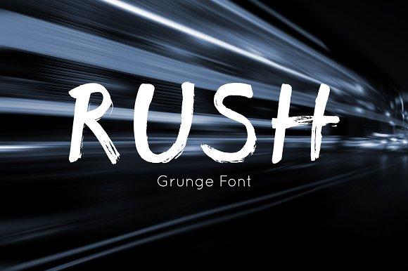Rush font - brush grunge script font
