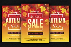 Fall / Autumn Sale Flyer