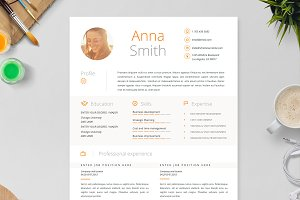 Resume Template 4 pages | Orange