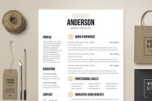 Resume Template 4 page | Anderson